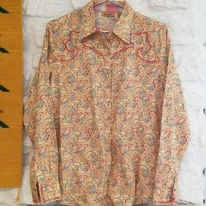 Wrangler Tops - Wrangler Snap Button Shirt SZ Large